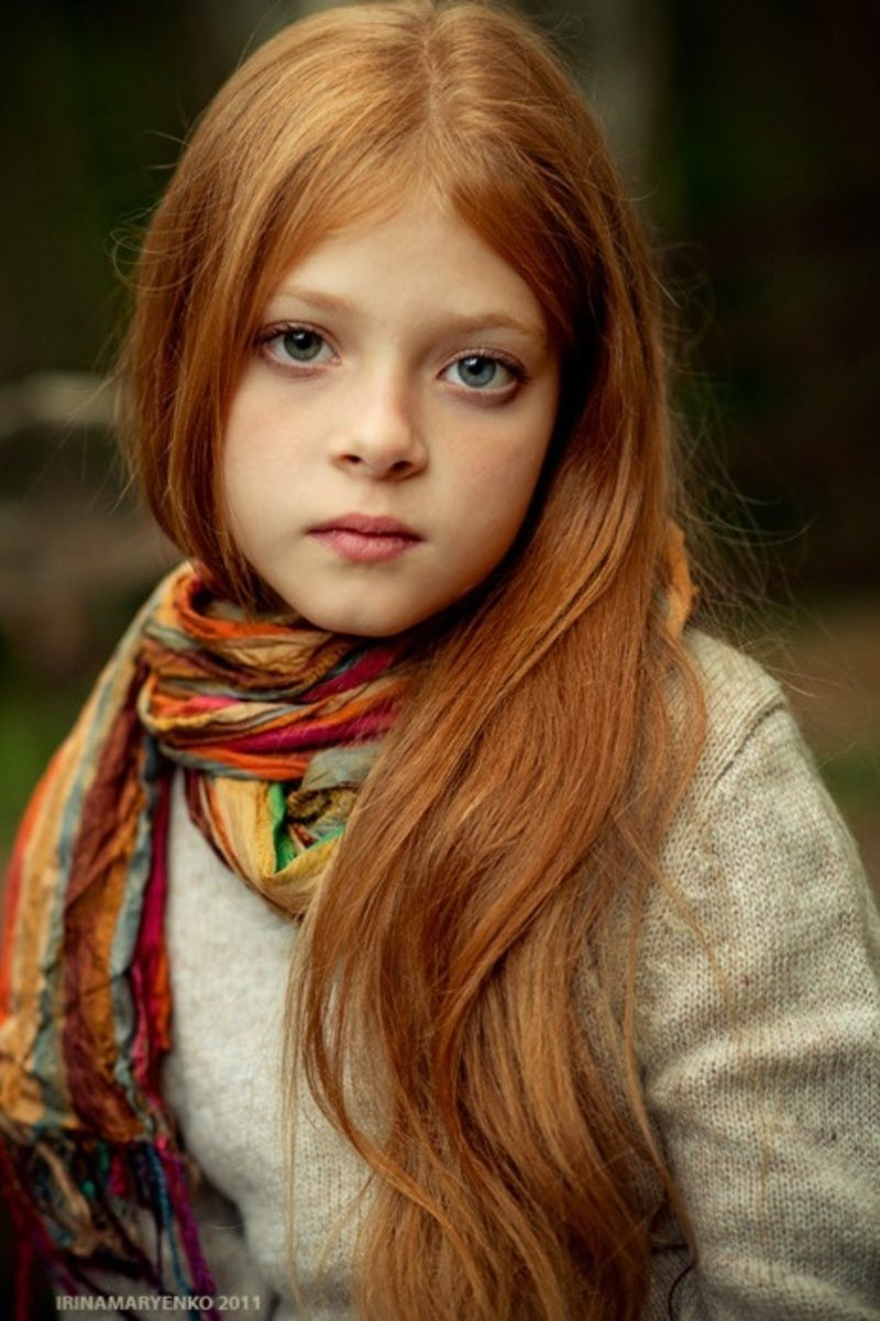 Young girl with red hair opinion you